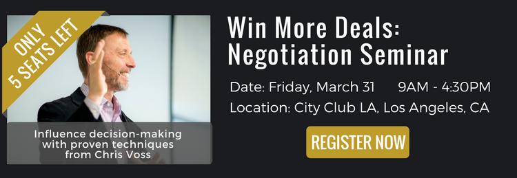 negotiation seminar, win more deals