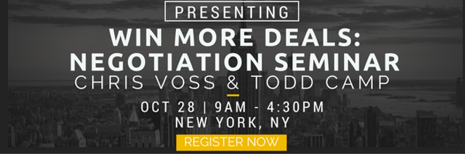 negotiation seminar, NYC