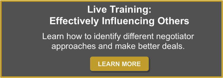 live negotiation training, brandon voss, influence others