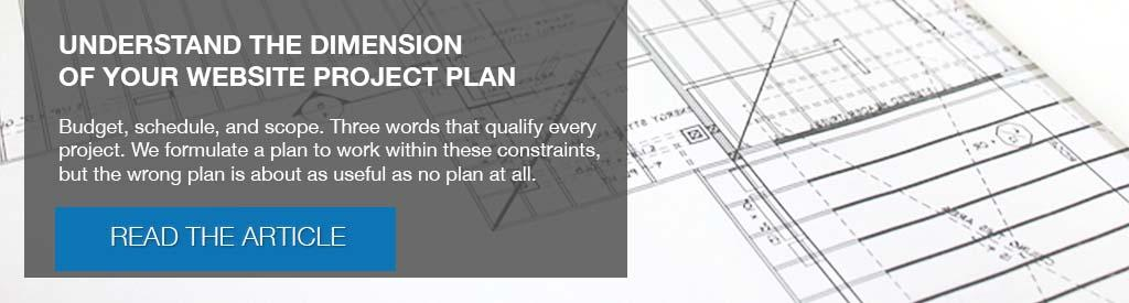 Understand the Dimension of Your Website Project Plan