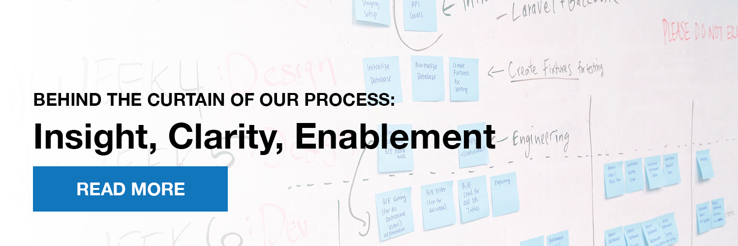 Behind the curtain of our insight, clarity, enablement process