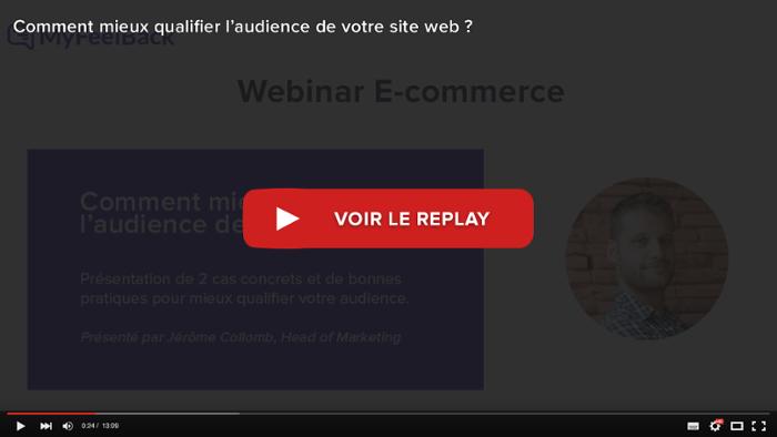 voir le replay du webinar comment mieux qualifier l'audience de votre site