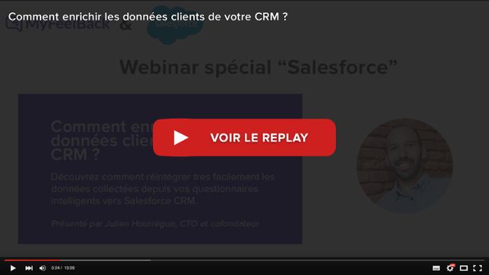 voir le replay du webinar comment enrichir les données clients de votre CRM