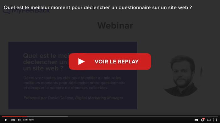 voir le replay du webinar meilleur moment pour déclencher un questionnaire sur un site web