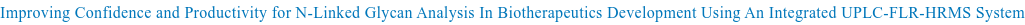 Improving Confidence and Productivity for N-Linked Glycan Analysis In  Biotherapeutics Development Using An Integrated UPLC-FLR-HRMS System