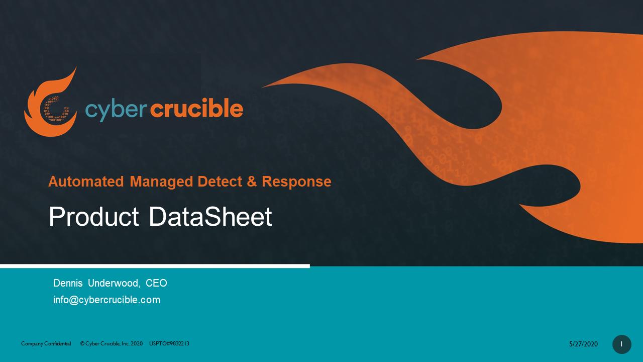 Cyber Crucible Product DataSheet