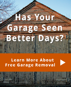 Minneapolis St Paul Garage Builder Garage Removal Special