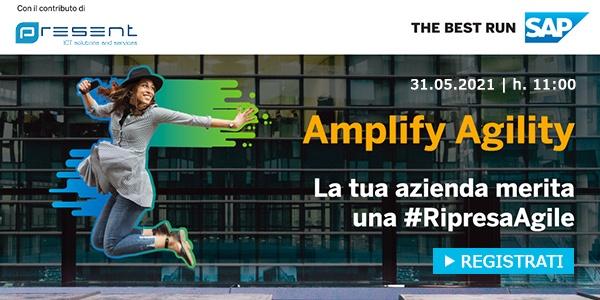 """CLICCA QUI per iscriverti al webinar: """"Amplify Agility: la tua azienda merita una #RipresaAgile"""""""