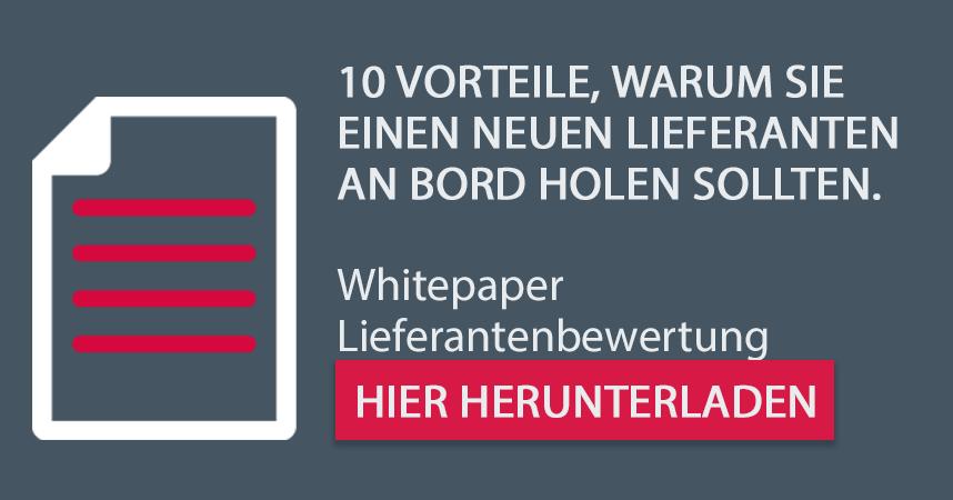 Kostenloses Whitepaper für Systemlieferanten: 10 Vorteile, warum Sie einen neuen Lieferanten an Bord holen sollten.