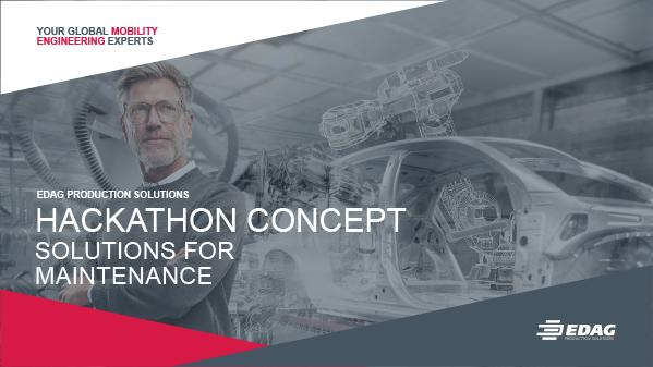 Hackathon concept – solutions for maintenance