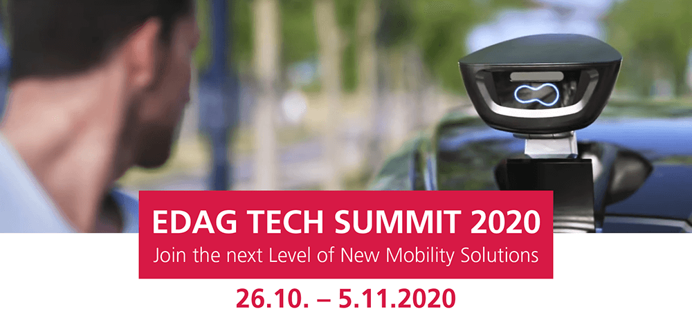 EDAG Tech Summit 2020: Join the next Level of New Mobility Solutions