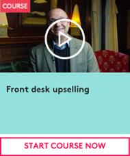 Front desk upselling CTA