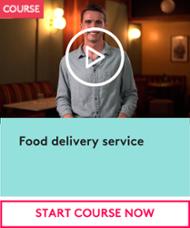 Food delivery service CTA