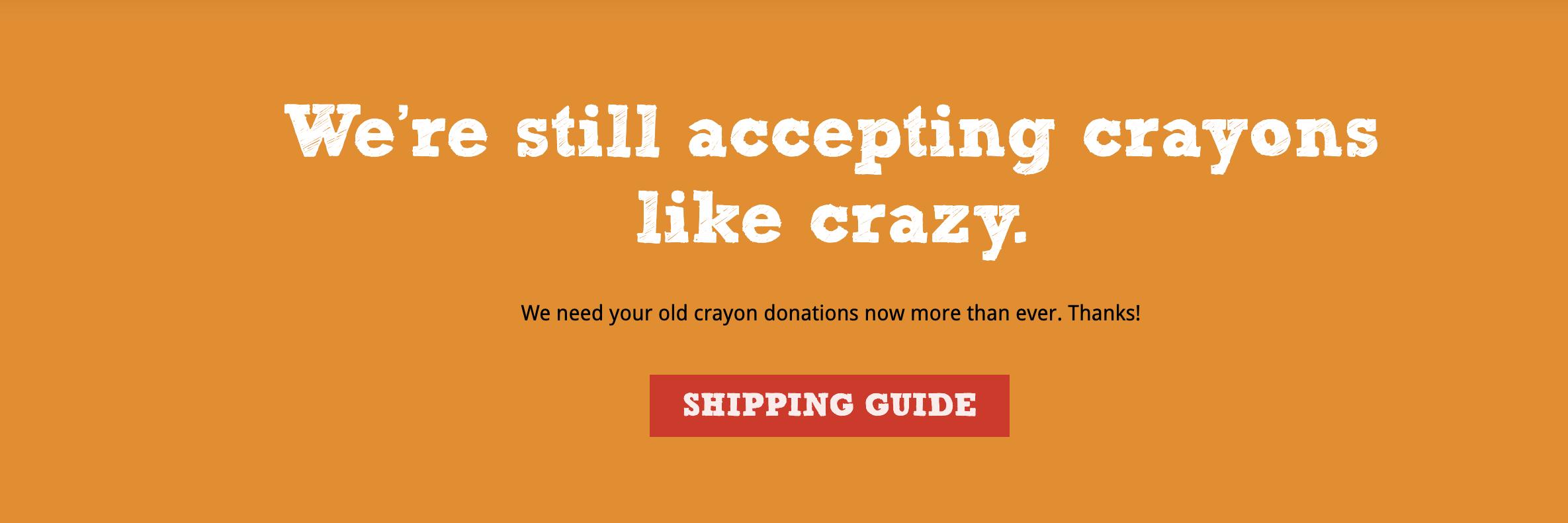 Give Crayons orange background