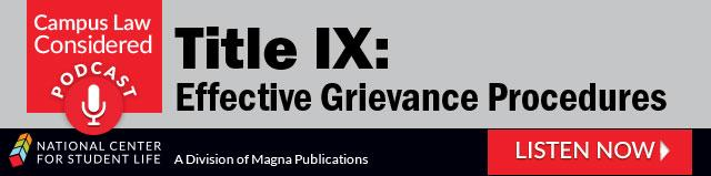 Title IX: Effective Grievance Procedures