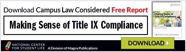 Making Sense of Title IX Compliance