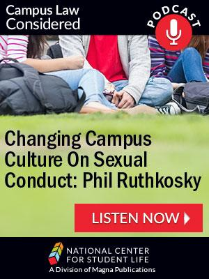 Changing Campus Culture on Sexual Conduct: Phil Ruthkosky