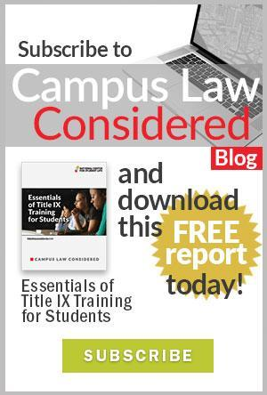 Subscribe to Campus Law Considered Blog