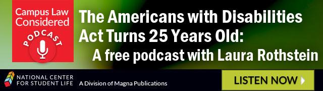 The Americans with Disabilities Act Turns 25 Years Old: A Free podcast with Laura Rothstein
