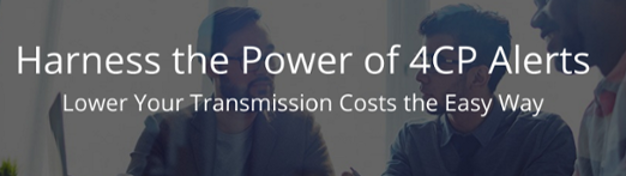 Lower transmission costs on electricity bills with 4cp alerts