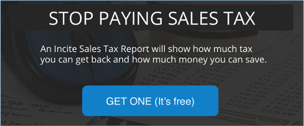 Stop paying sales tax on energy bills. Get a free Sales Tax report today.