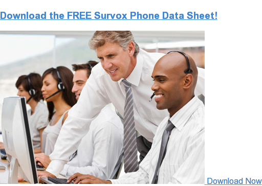 Download the FREE Survox Phone Data Sheet  Download Now
