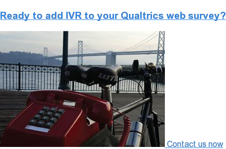 Survox IVR for Qualtrics