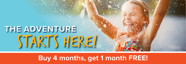 Buy 4 months, get 1 month free