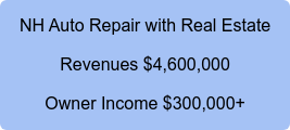 NH Auto Repair with Real Estate Revenues $4,600,000 Owner Income $300,000+