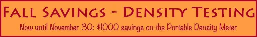 Fall Savings on the Portable Density Meter