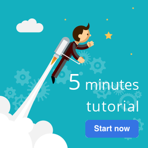 Start now the 5 minutes tutorial