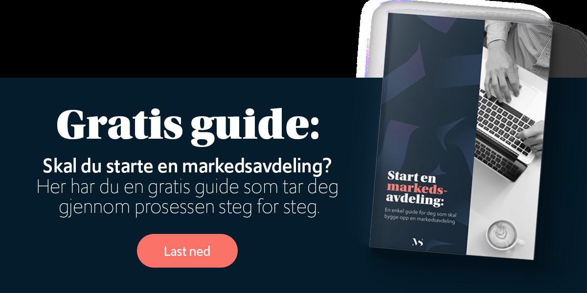 Gratis guide: Skal du starte en markedsavdeling?