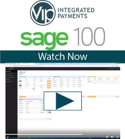 Sage 100 Credit Card Processing