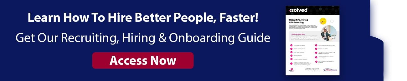 Recruiting, Hiring and Onboarding CTA Horizontal