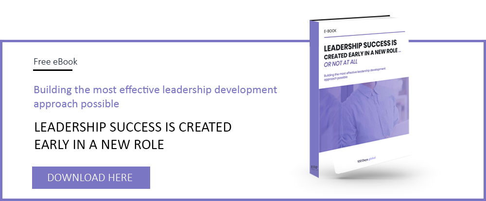 Free ebook about how leadership success is created in a new role