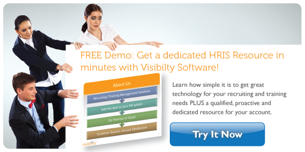 Free Demo: Receive a dedicated HRIS Resource in minutes with Visibility Software