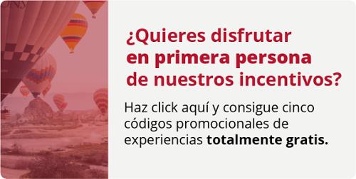 ¿Quieres disfrutar en primera persona de nuestros incentivos? Haz click aquí y consigue cinco códigos de experiencias totalmente gratis.