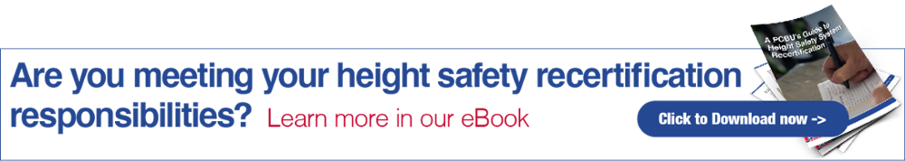 What is a height safety system recertification?