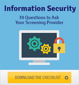 Information Security Checklist Background Screeners