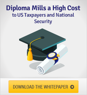 Diploma Mills: A High Cost to US Tax Payers and National Security