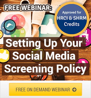 social media screening policy