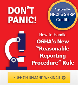 OSHA Reasonable Reporting Procedure Rule Webinar Download