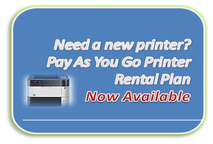 Pay as Your go printer rental plan