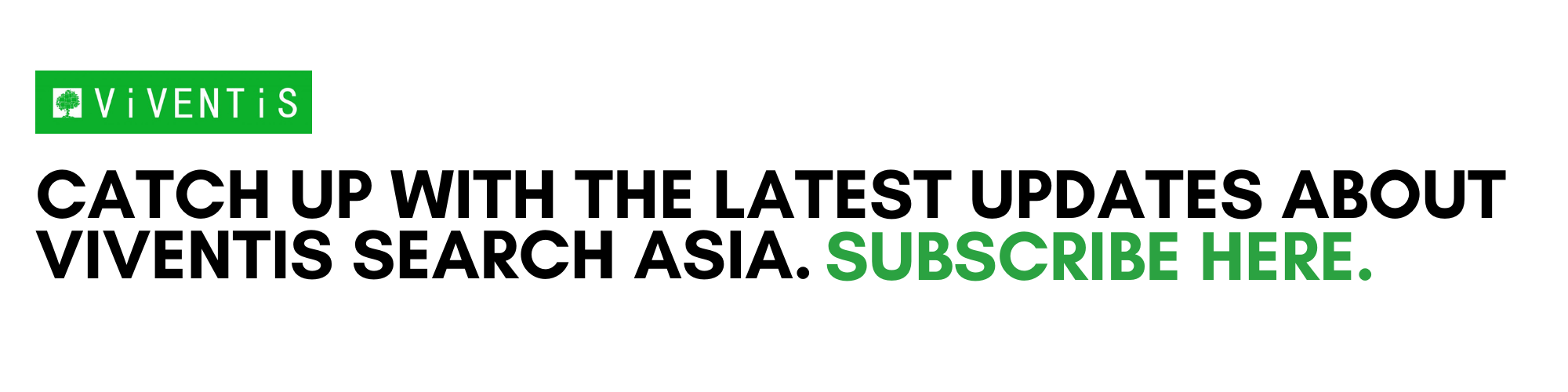 Catch up with the latest updates about Viventis Search Asia.