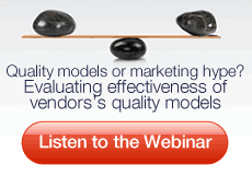 Webinar: Evaluating effectiveness of vendors' quality models