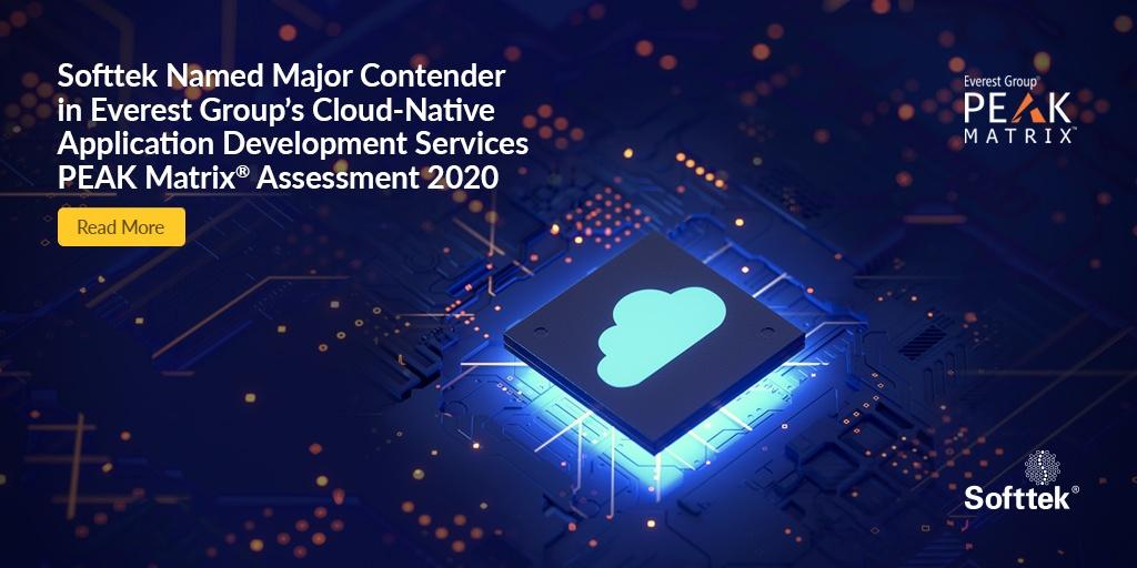 Softtek Named Major Contender in Everest Group's Cloud-Native Application Development Services PEAK Matrix Assessment 2020, read more.