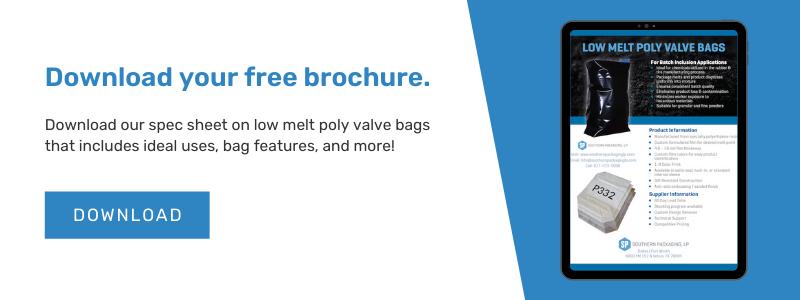 Low Melt Poly Valve Bags Brochure