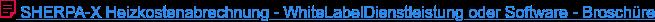 SHERPA-X Heizkostenabrechnung - WhiteLabelDienstleistung oder Software -  Broschüre