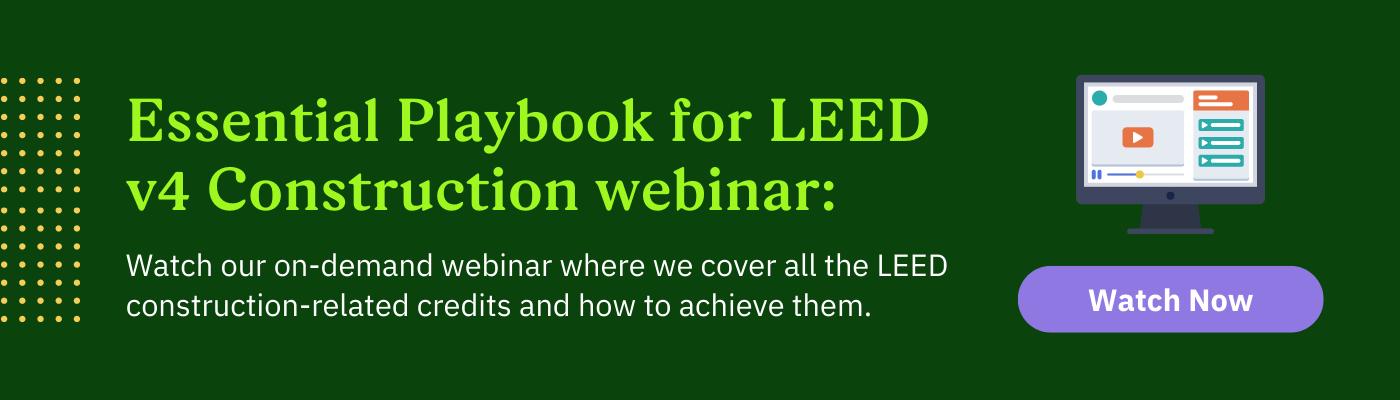 Essential Playbook to Managing LEED Construction Webinar Download
