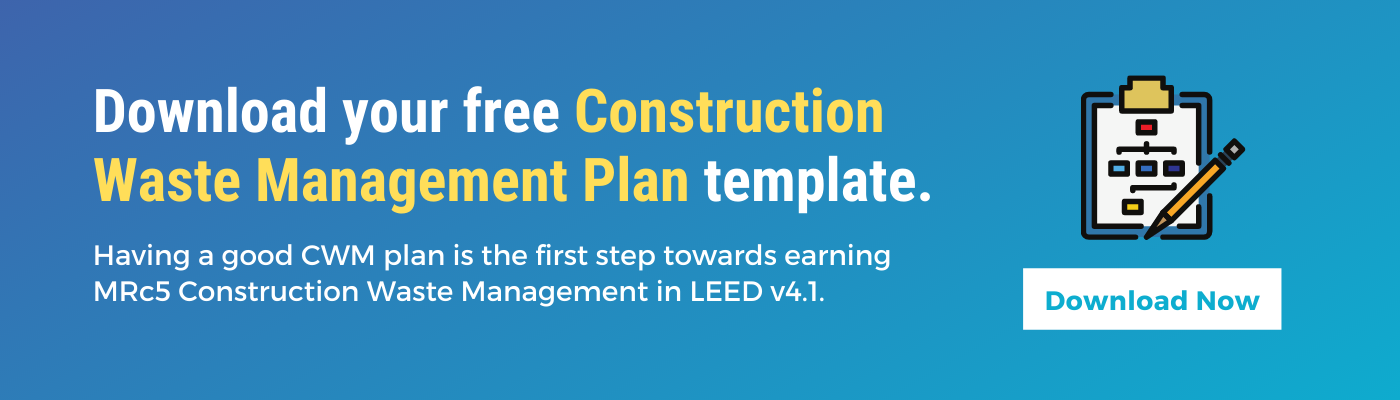 Construction waste management template free download for LEED v4